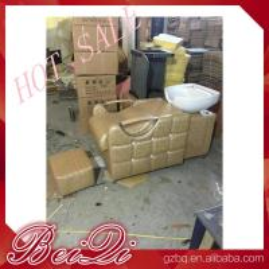 Quality beauty salon furniture hair washing sink salon equipments backwash shampoo unit bed for sale