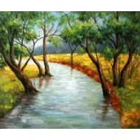 Quality landscape painting waterfall image for sale