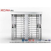 China Security Controlled Full height Turnstile Security Gates Rapid Identification with Double Door with RFID Card on sale