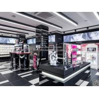 Buy High level customzied cosmetics display design showcase custom design retail shop mall kiosk wall wood cosmetic display at wholesale prices