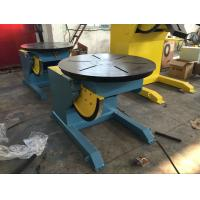China VFD Control Welding Rotary Table / Welding Positioner Turntable Rated Load Cap 600Kg on sale
