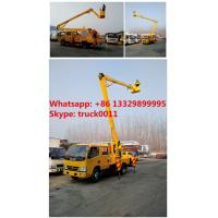 Quality CLW DONGFENG double cabs 16m high altitude operation truck, DONGFENG 95hp 14m-16m overhead working platform truck for sale
