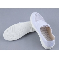 Quality PU Canvas 34-46 Esd Single Mesh Work Shoes With Velcro for sale