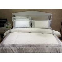 Quality Embroidered Cotton Duvet Covers , Pretty White Duvet Covers And Shams for sale