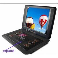 Quality Black , Red 14 Inch Portable DVD Player With Rotatable LCD TFT Screen for sale