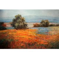 Quality landscape painting sky grassland wall art for sale