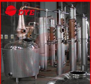 Quality Miniature Copper Commercial Distilling Equipment  200L - 5000L for sale