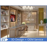 Buy OEM White Store Jewelry Display Cases With LED Light , Jewellery Showroom at wholesale prices