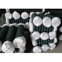 Buy PVC Coated Wire Netting Fence / Green Wire Fencing Chain Link For Zoo Protection at wholesale prices