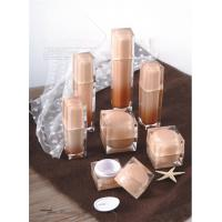 Quality luxury 15ml 30ml 50ml 100ml square cosmetic packaging acrylic lotion pump serum bottle for sale