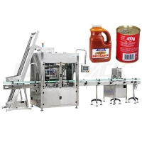 Quality Monoblock Ketchup Sauce Filling Machine Side Sealing PLC Control for sale