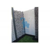 Quality Silver Color Steel Gabion Baskets Garden Design Rock Fence Cages Anti - Rust for sale