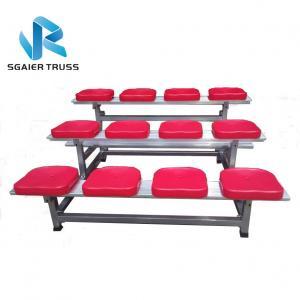 Quality School Sports 4 Row Bleachers , High Material Strength Aluminum Grandstands for sale