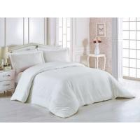 Quality 100% Cotton 60 * 40S 300TC Hotel Bedding Set White Color King Size Plain Style for sale