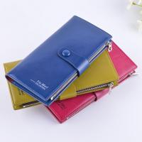 Quality Female Genuine Leather Clutch Wallet Large Capacity With Zipper Buckle for sale