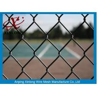 Quality 50*50mm PVC Coated Chain Link Fence / Diamond Wire Mesh Round Post Type for sale
