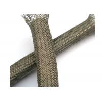 Quality Abrasion - Resistant Braided Shield Sleeve Tinned Copper For Grounding / Decoration for sale
