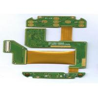 Quality FR4 + PI 4 Layer Rigid Flexible PCB ENIG Finish Green Masking White Lengend for sale