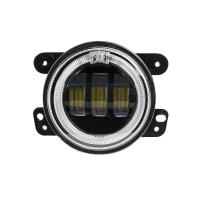 Quality 4 inch 30 W 2400LM Car LED Fog Lights With Halo Ring DRL for jeep wrangler JK for sale