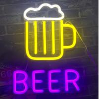 Buy cheap Beer Neon Signs for Man Caves Neon Beer Lights Personalised BEER Neon Light Sign from wholesalers