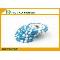 Quality Light Blue Clay Crown Poker Chips Casino Standard Game Poker Chips for sale