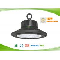Quality 1 - 10v Dimmable LED High Bay Lights UFO Philips 3030 100 Watts AC90 - 305V for sale