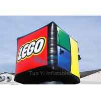 Quality White Square Promotional Helium Balloons , Fire Retardant Big Advertising Balloons for sale