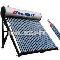 Quality Color Steel Compact Pressurized Solar Water Heater with Heat Pipe , 45 Degree Frame for sale