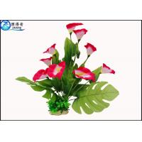 Quality Simulation Anthurium Plastic Aquatic Plants Marine Polyresin Aqua Decor Fake Flowers for sale