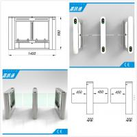 Quality Airport / Metro / Swimming Hall Speed Gate Half Height Turnstile with Automatic Rfid Reader for sale