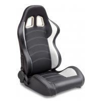 Buy Sparco Style Leather Racing Sport Auto Car Seats / Black And White Racing Seats at wholesale prices