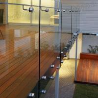 Quality Easty Installing Good Price Standoff bracket frameless tempered glass railing for sale