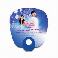 Quality Hand Fan for Promotional Purposes, Made of PP, Customer's Logo Printings are Available for sale