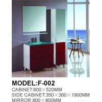 Quality Modern Glass Bathroom Vanity Cabinet for sale