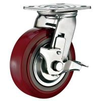 """Buy cheap Top Plate Mounted 6""""X 2"""" Swivel Side Locking Brake Caster Industrial Heavy Duty from wholesalers"""