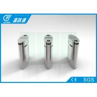 Quality Stainless Steel Flap Gate Barrier Sliding Turnstiles One Direction Face Recoginition for sale