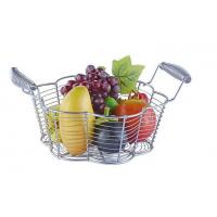 Quality Food Grade Metal Mesh Wire Fruit Basket Stainless Steel Material For Home Storage for sale