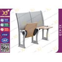 Quality Plywood School / College Classroom Furniture Connected Table And Chair for sale