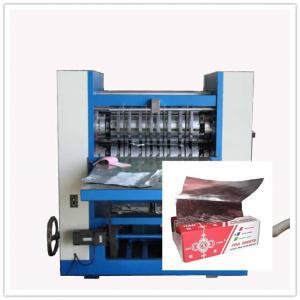"Buy Pop Up Food Service Foil Paper Sheet Inter Folding Machine , "" V "" form cross folding at wholesale prices"