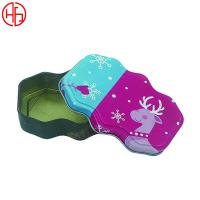 Buy Special Shape Metal Christmas Gift Tin Box with Lid ,Custom Printed Decorative at wholesale prices