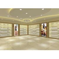 Quality Large Capacity Shoe Display Cabinet Wooden Material Decorated With LED Lights for sale