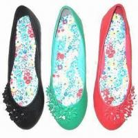 Buy cheap Women's Flat Casual Shoes with Rubber Outsole and PU Upper/Lining from wholesalers