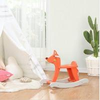 China Orange Lovely Cute Fox Rocking Horse Wooden Toy For Kid 1-3 Years Old on sale