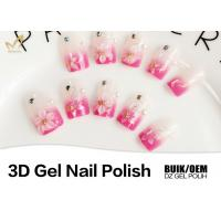 Quality Long Wearing Nail Art 3d Gel Paint , No Buble 3d Sculpting Gel Odorlessness for sale