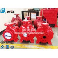 Quality Single Stage Horizontal Centrifugal End Suction Fire Pump Set With Diesel Engine for sale