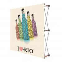 Quality Fabric Portable Pull Up Display Banners , 2 * 2 Roll Up Display Stands for sale