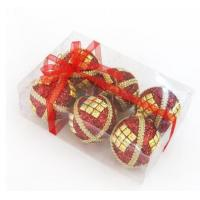 Quality Wholesale Red&Orange Decoration Ball with Paillette for sale
