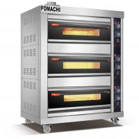 Quality Gas Deck Oven 3 Deck 6 Trays Front Stainless Steel Electric Deck Oven FMX-O41C for sale