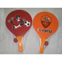 Quality Paper Sticker Wooden Beach Racket / Wooden Beach Racquet / Wooden Beach Bat for sale