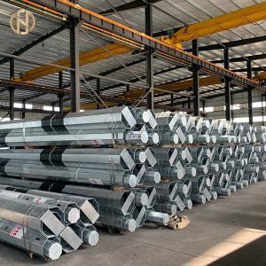 Quality Hot Roll Galvanized Metal Power Pole 33KV Class 2 1050daN 11.8m 4mm Q420 for sale
